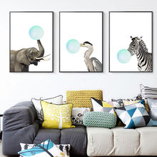Modern House Living Room Nordic Painting Wall Painting Children Room Cartoon Animals Nursery Decor Paintings