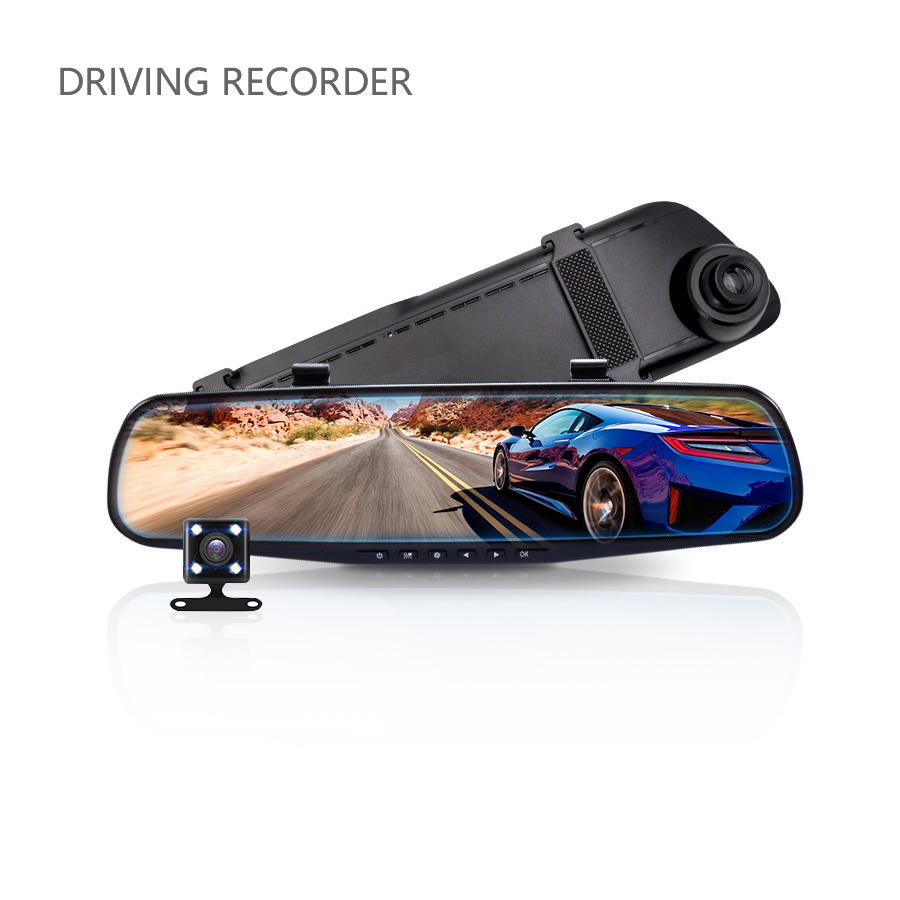 4Inch 3 Lens 4K, auto <span class=keywords><strong>Dvr</strong></span> Originele Internationale Versie Auto Black Box Achteruitkijkspiegel Camera Voice Control Auto Camera Systeem Dash Cam/