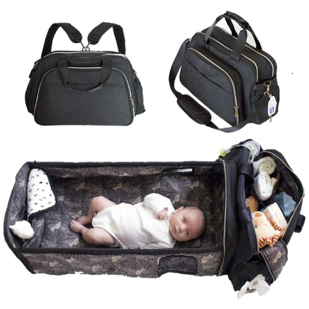 Waterproof portable mummy mother nappy baby changing pad diaper bag