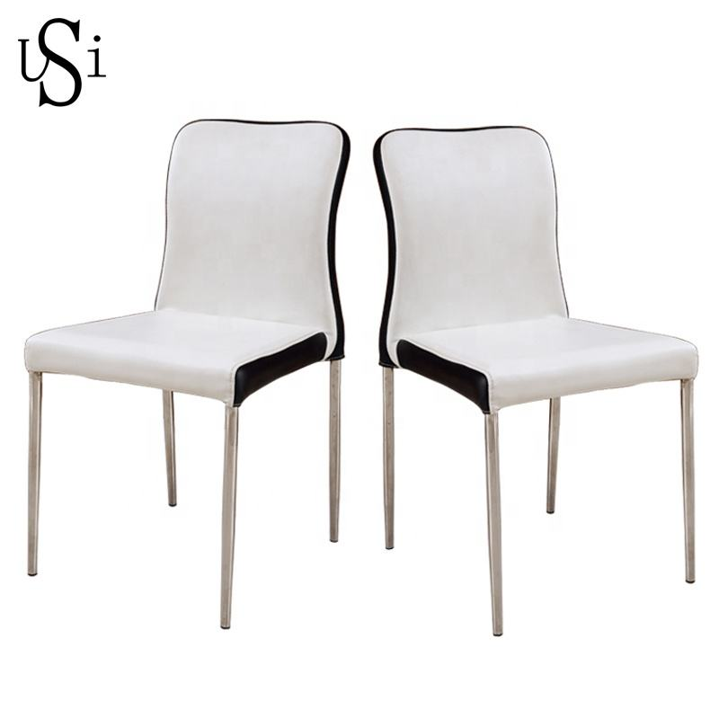 Wholesale Sturdy PVC Colorful PU Leather Office Hotel Metal Iron Chair