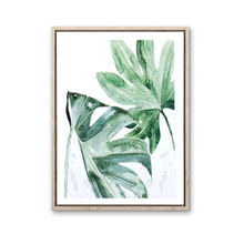 Modern and contracted plant wall art canvas painting framed picture