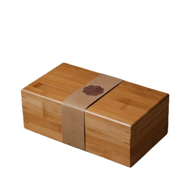 Wholesale Stock High-grade Ceramic Cup Packaging Box Square Wooden Box Gift Packaging Solid Wood Packaging Bamboo Wood Box