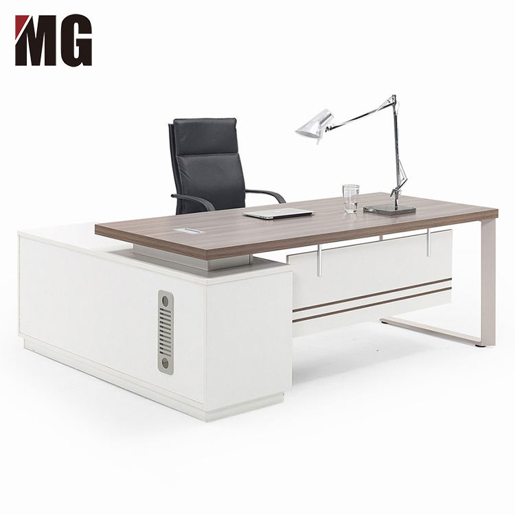 High Quality Executive Furniture Set Chair and Desk Secretary Office Table Modern L Shaped Boss Computer Desk