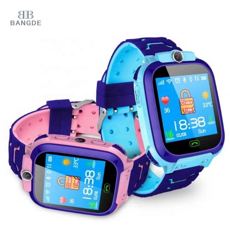 High Quality GPS Tracker Safety Children Kids Smart Watch Q12 with Emergency SOS Phone Call