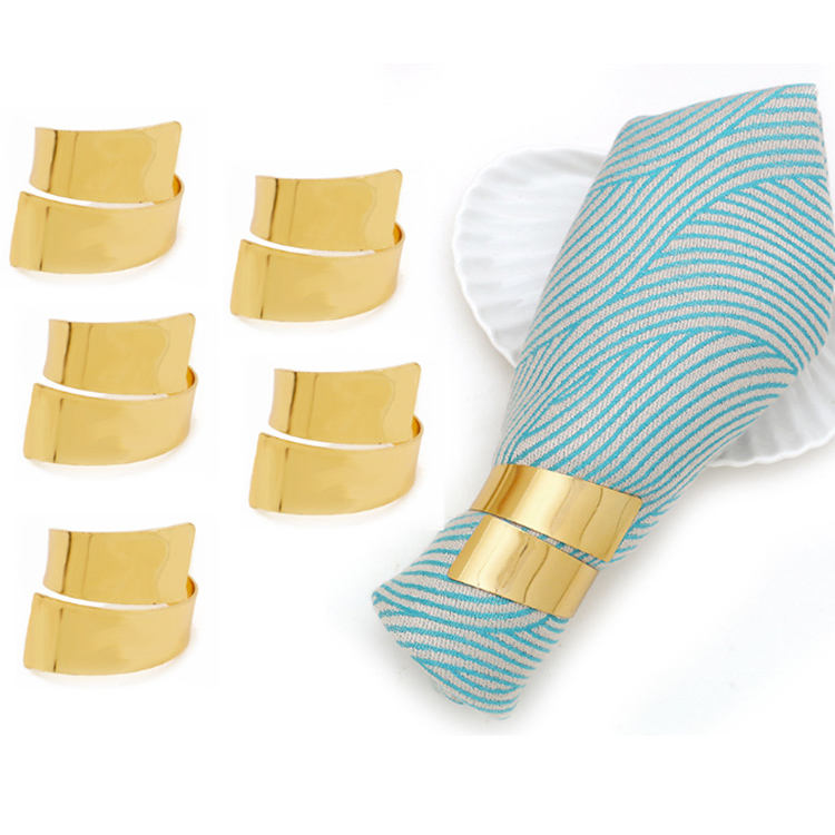 Custom Wholesale Table Napkin Ring Wedding Decorative Napkin Rings for Restaurant