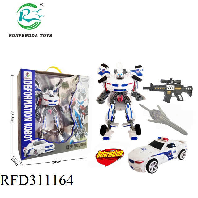 Hot Selling Plastic Transformeren <span class=keywords><strong>Robot</strong></span> Politie Auto <span class=keywords><strong>Speelgoed</strong></span>