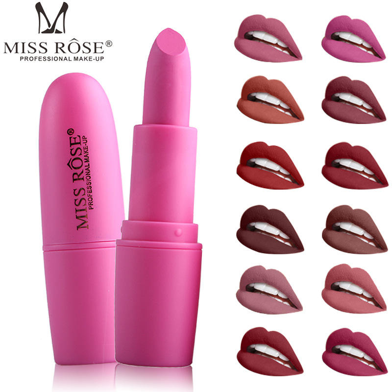 MIss Rose 25color women magic cosmetic matte waterproof long lasting velvet lipstick