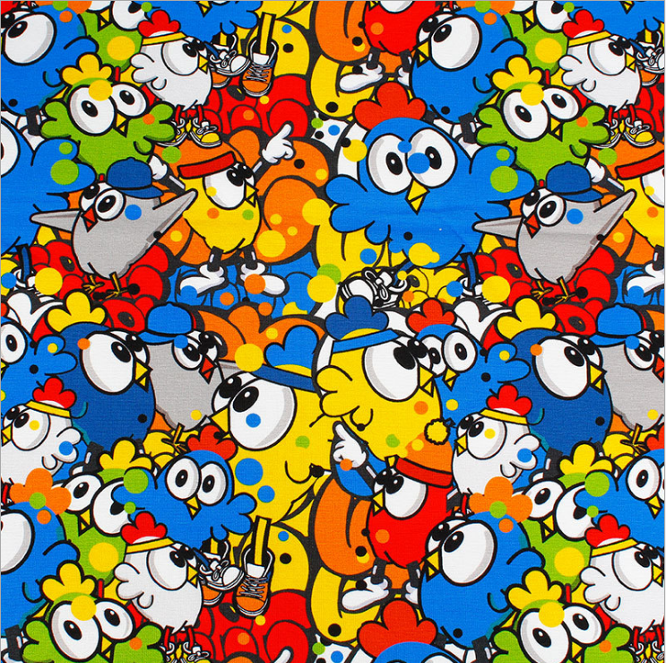 The factory outlet famous cartoon polyester cartoon bedding set fabric custom digital/disperse printed for bedding