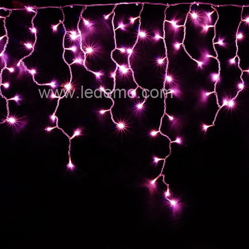 Outdoor decoration string lights christmas ornaments led curtain icicle light for decoration