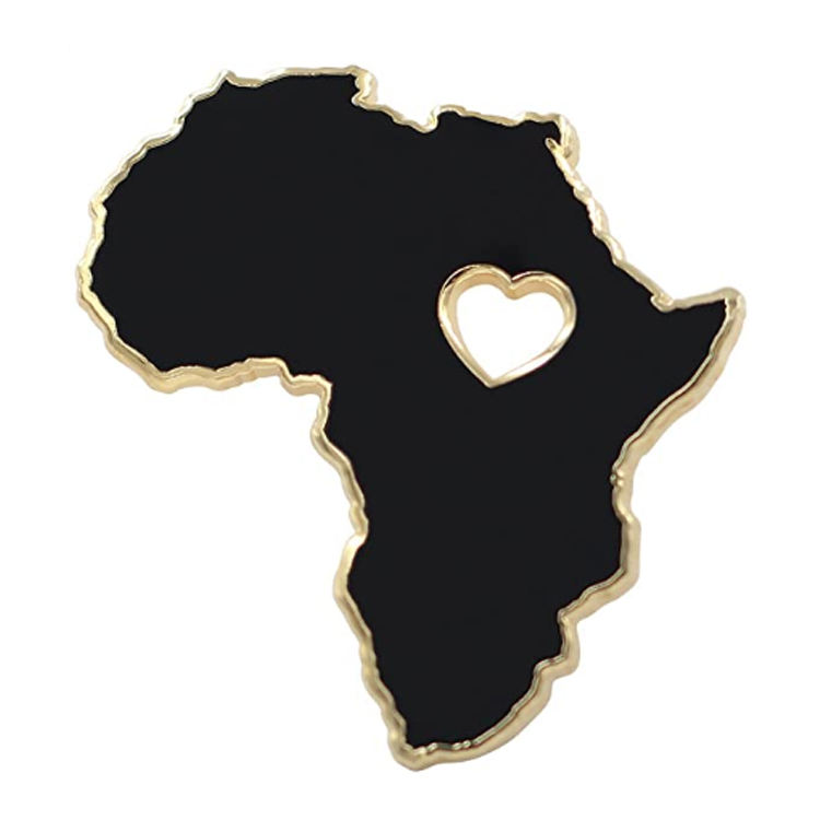 Custom Hard Enamel Pin Alloy Real Sic Africa Pin Black Lives Matter Lapel Pin For Cloth