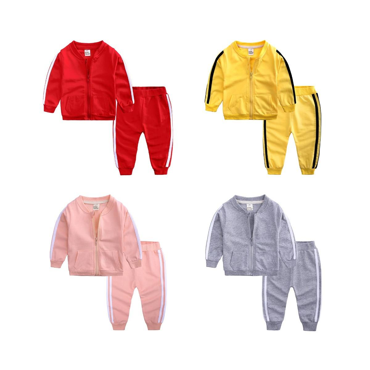 Fashion long sleeve baby tracksuit set toddler baby boys clothing set