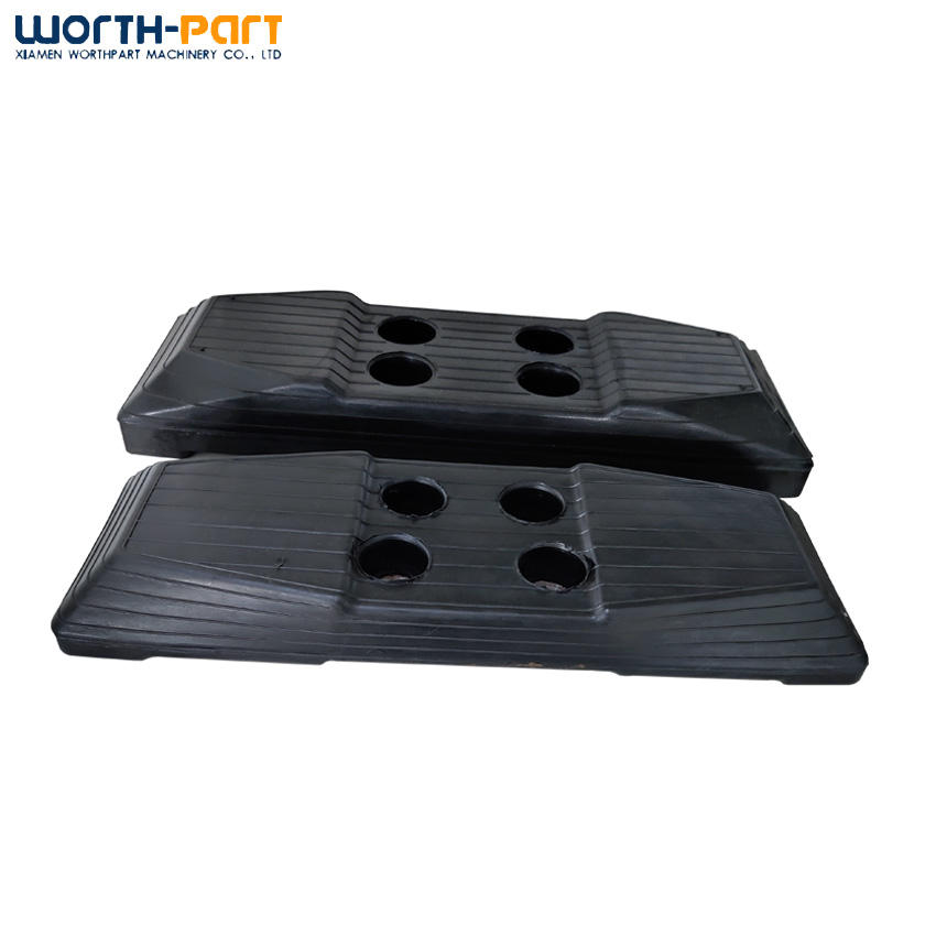 Mini excavator rubber track shoe