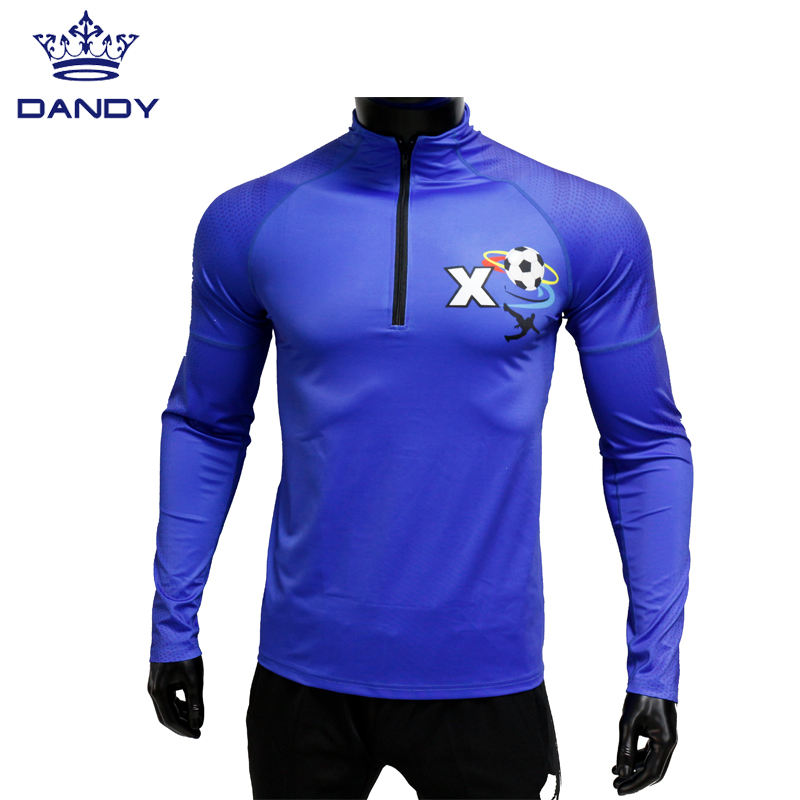 Wholesale team wear breathable jersey custom polyester football gear soccer kits