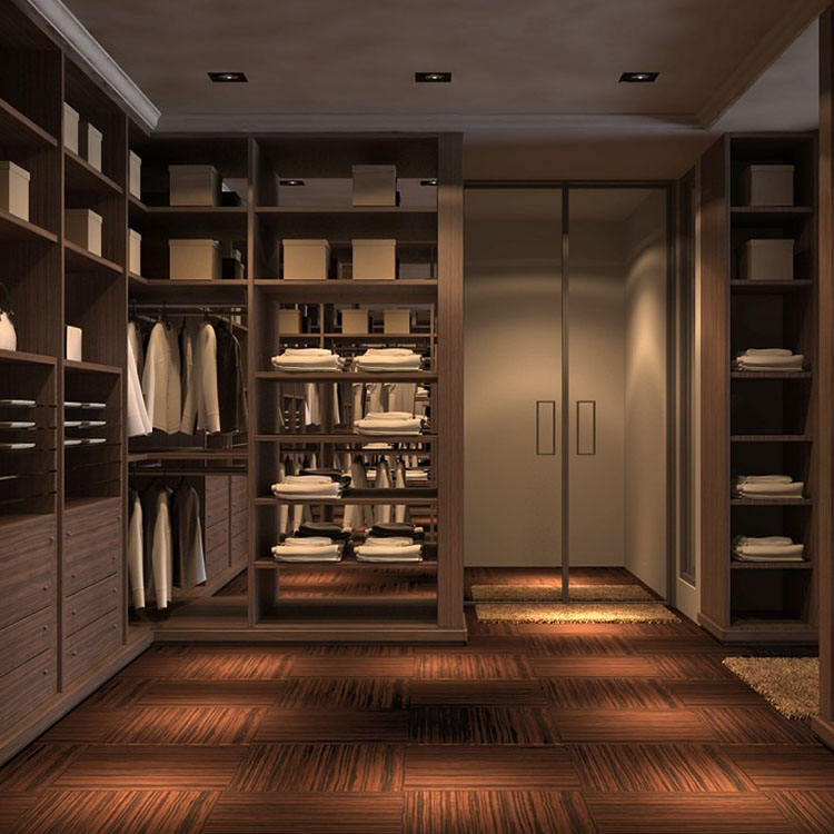 Solid Wood Solid Wood Modern Closet Walk in Closet Storage System Closet Cabinets