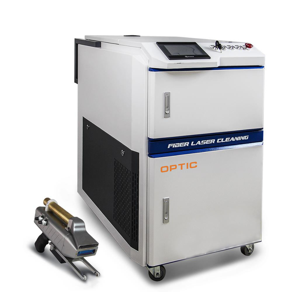 Rust Coating Cleaning by Laser Cleaning Machine come with high quality laser gun