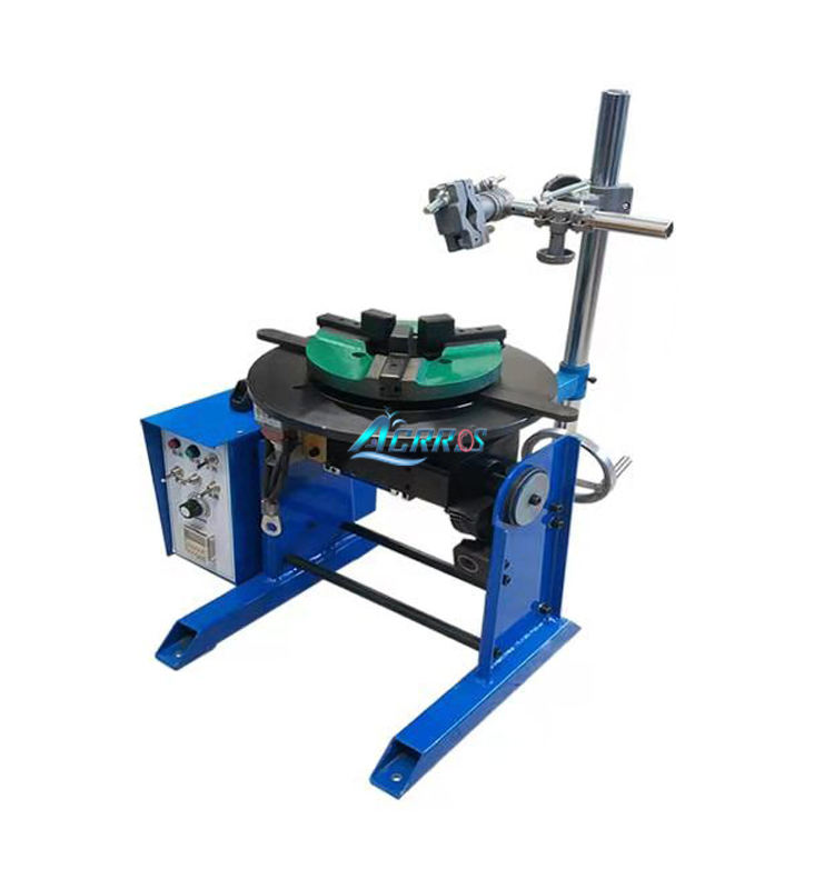 Acrros 30kg turntable rotary pipe welding positioner with timing welding function