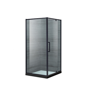 Corner black cheap free standing modern clear 10mm tempered glass shower door shower enclosure