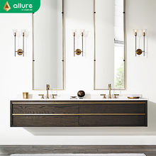 Allure quartz designer public used spanish style 2 sink bathroom vanity units without sink
