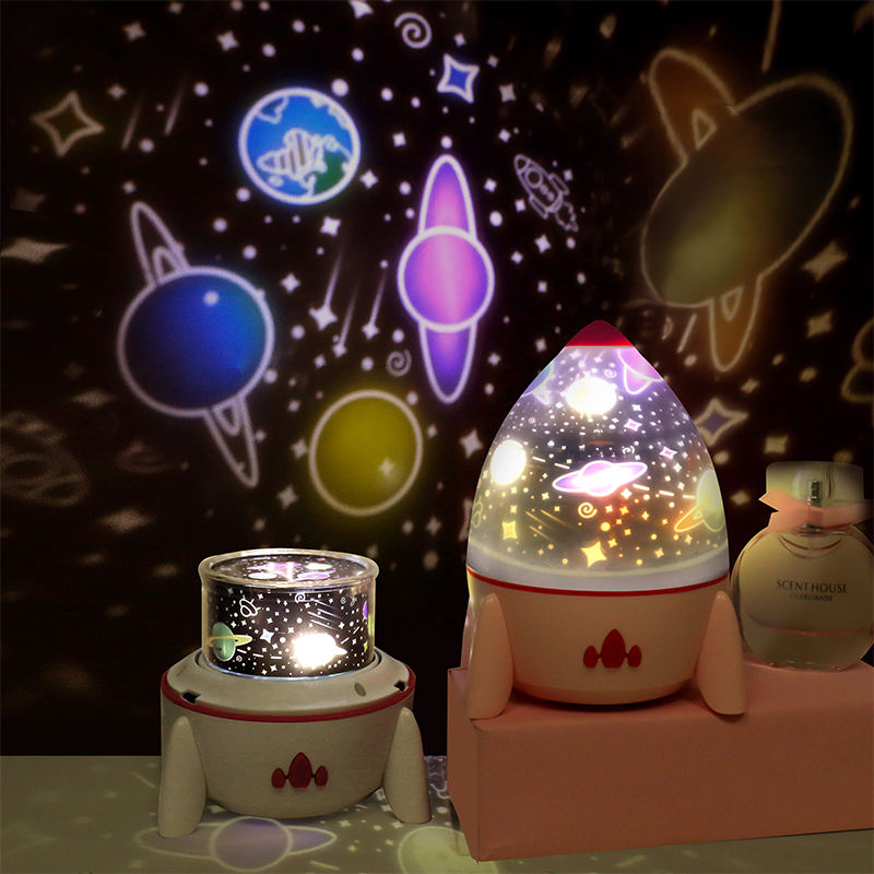 Birthday and festival celebration stars lighting music night light projector customize