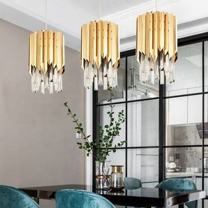 Designer nordic metal ceiling lights led hanging lighting crystal chandeliers pendent light for kitchen island/bar/dining room