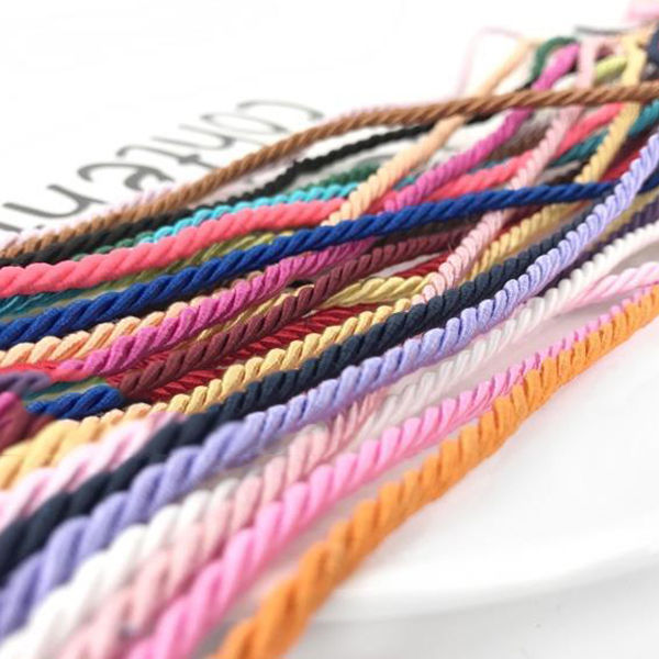 Deepeel CD006 3mm DIY Craft Braided Decoration Rope Polyester Woven Cords 3 Strand Twisted Rope