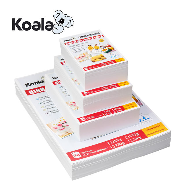 Koala 230g waterproof inkjet high glossy photo paper A4*20Sheets