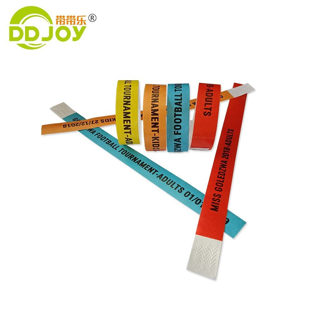 Direct Sale Competitions /Exhibitions Events Bracelet One Time Use Printable Dupont Tyvek Paper Wristbands