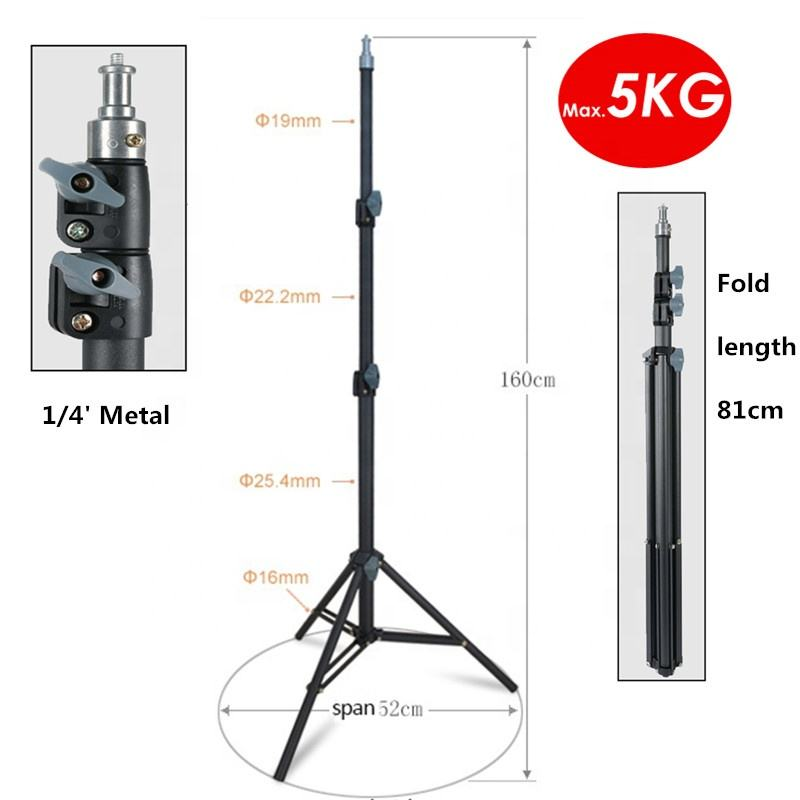 Aluminum Light Stand 88 inches 225cm Heavy Duty Tripod For Studio Softbox Moonlight and Photographic Lighting