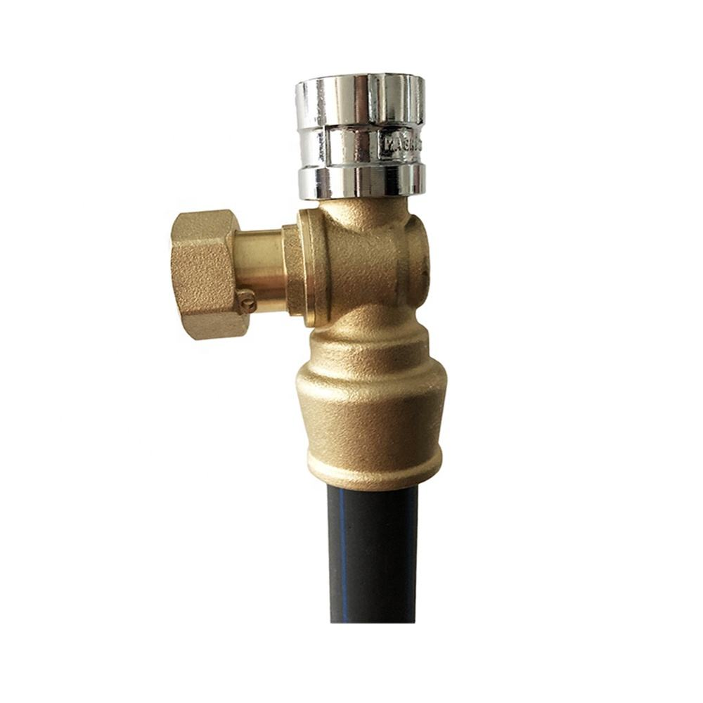 Forged brass magnetic lockable ball valve with pushfit connection