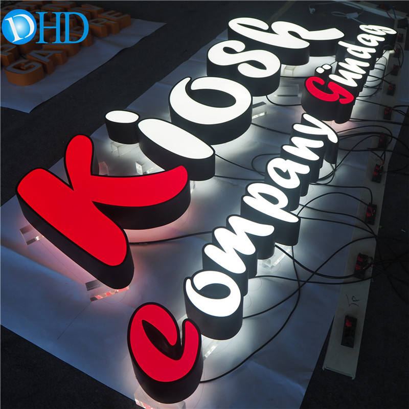 3D Outdoor Illuminated Advertising Signage Custom Light Signage Backlit Acrylic Wall Signage