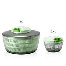 High quality hand operated kitchen vegetable Salad dryer chopper pull salad spinner