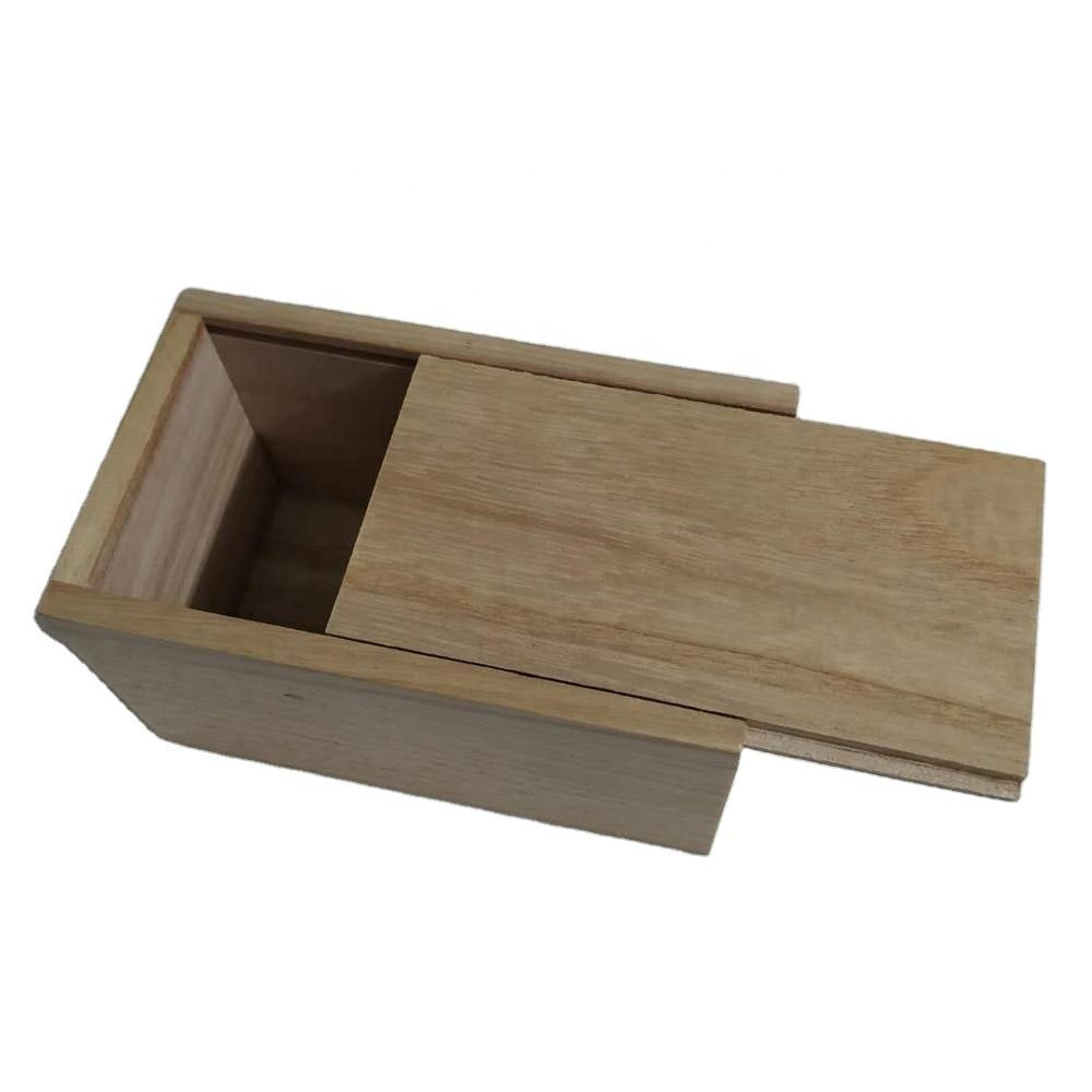 small wooden sliding/slide top lid box