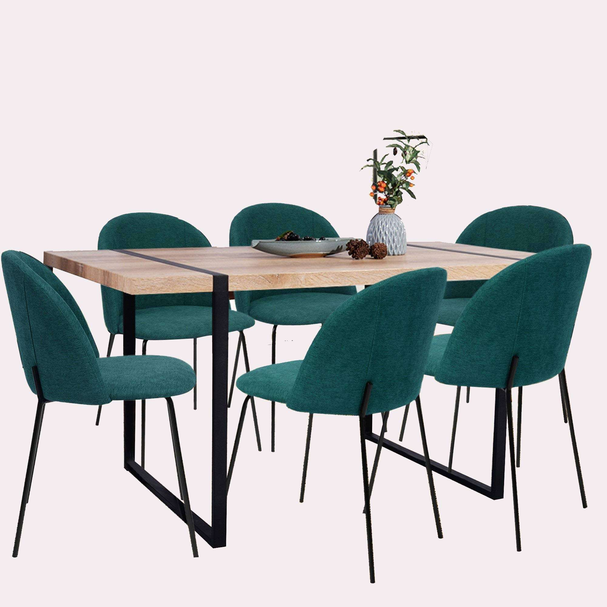 free sample and Best reviews wooden dining table with metal legs creative restaurant set 6/8/10/12 seater dining table set