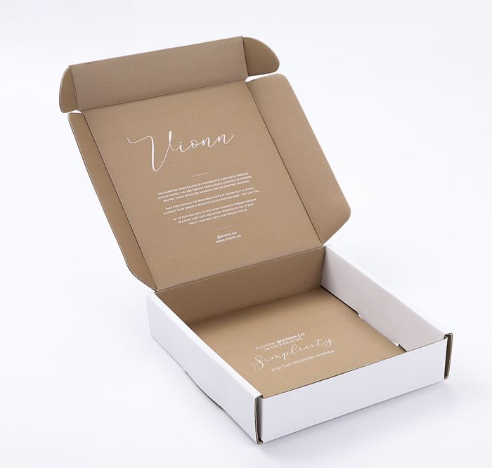 custom biodegradable kraft subscription mailer box 350g white printed e flute corrugated sheet carton packaging box