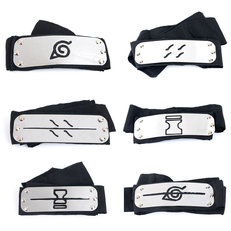 Anime Naruto Cosplay Headband Uzumaki Naruto Kakash Forehead Fashionable Guard Head Band