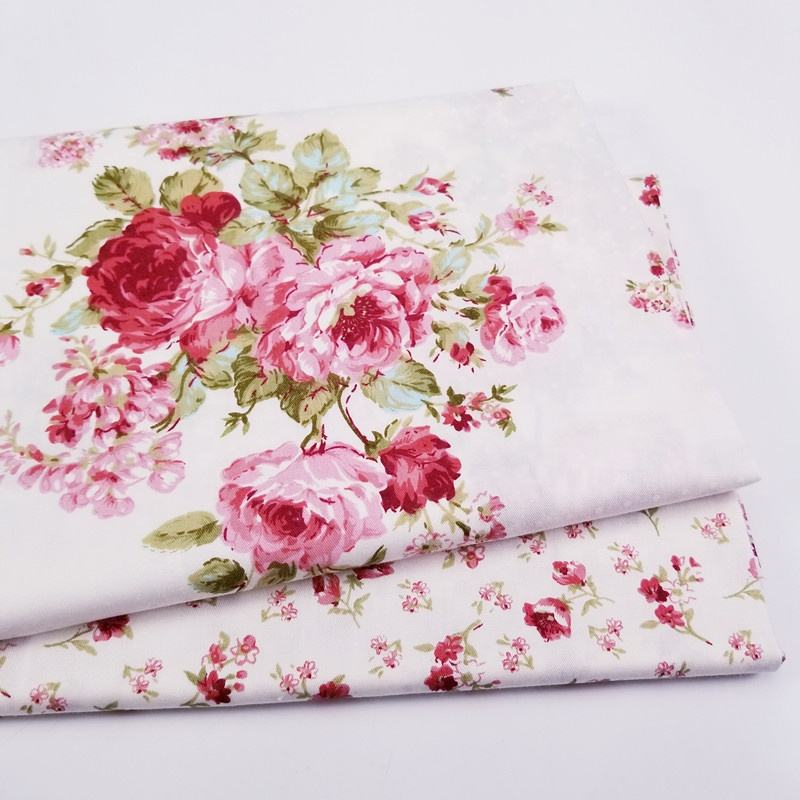 Custom Pattern Floral 100% Cotton Twill Fabric for Pillow Sheet Material