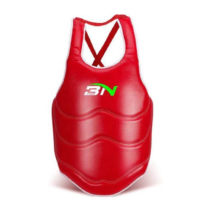BN Microfiber leather Chest Guard Kids Adults Karate Taekwondo MMA Body Protector Muay Thai