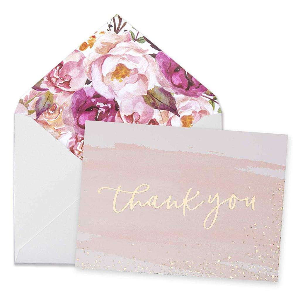 Myway thank you cards custom with logo amazon bulk 100 pack set custom thank you card for business