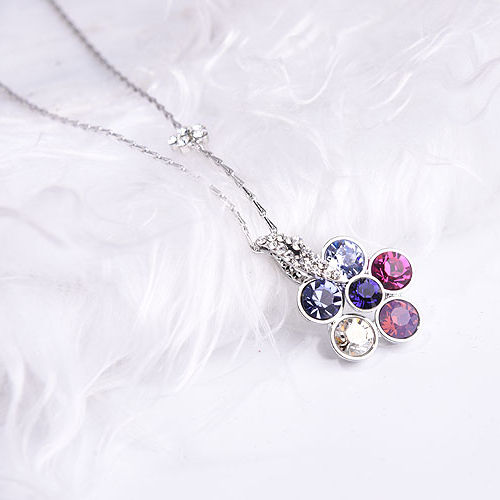 S925 Whole Body Sterling Silver Necklace Cute Little Strawberry Pendant Korean Cute Sen Women Style Jewelry Clavicle Chain Gift