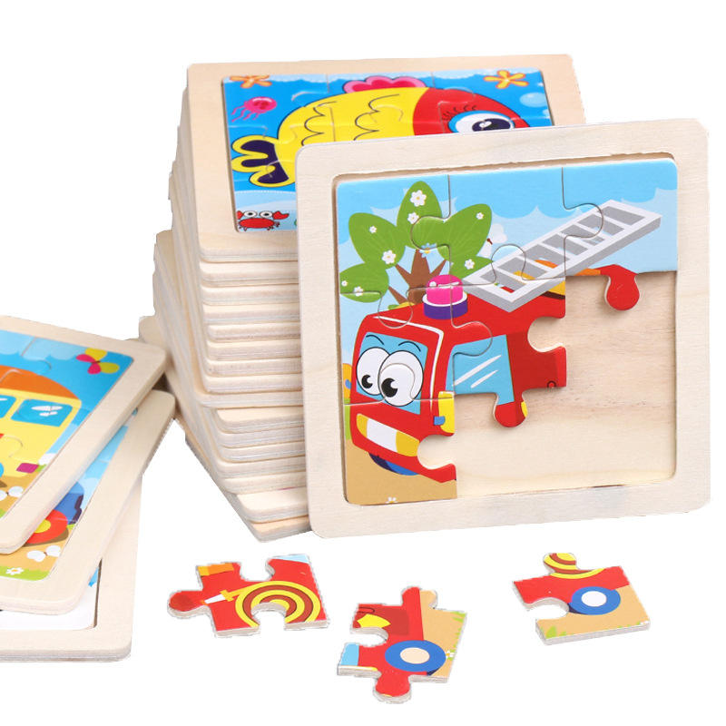 9 Pcs Montessori Toys Educational Wooden Child Early Learning Puzzle Kids Exercise Intelligence Teaching Aids