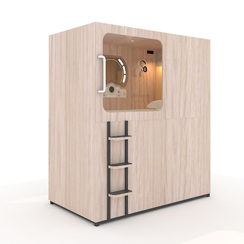 wood sleeping pod bed capsule box hotel manufacturer