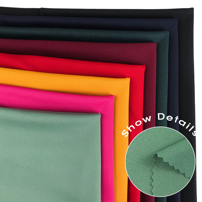material cheap fashion fabric Indian zurich fabric solid P/D knitted 4 way stretch textiles fabrics for pants