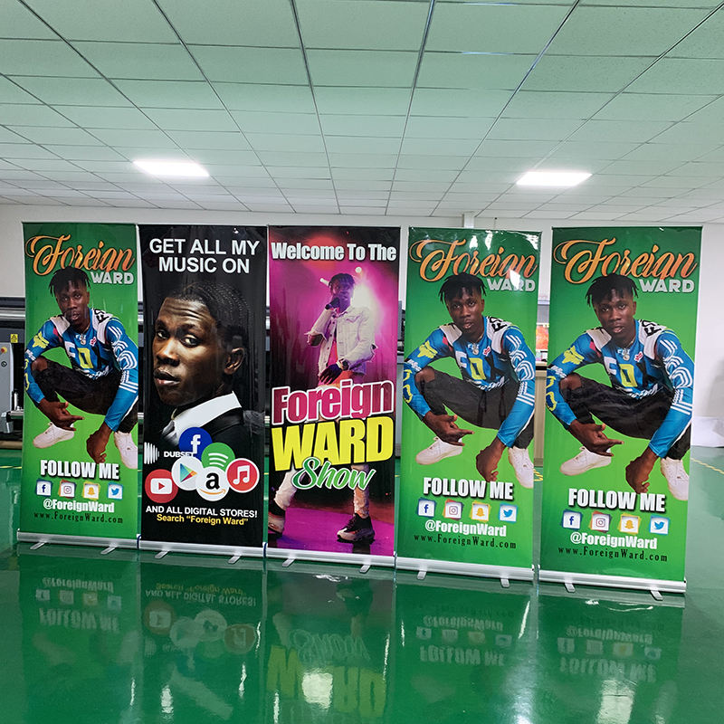 High Quality 80*200cm Aluminum Exhibition Roll Up Banner Economical Roll Up Display Rollup Advertising Banner Stand