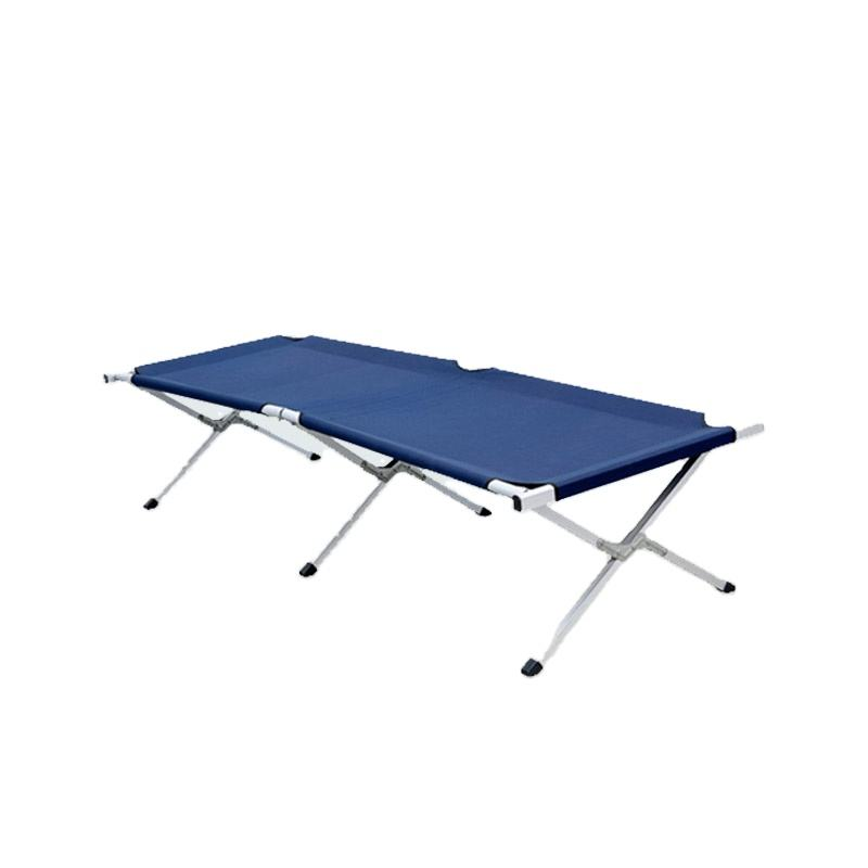 Outdoor Folding Camping Bed Army Foldable Cot With 600d Polyester Carry Bag for Camping Use