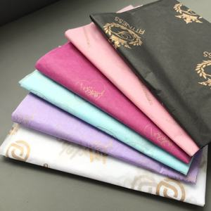 50*70cm 17gsm logo printed custom wrapping tissue paper colored wrapping tissue paper