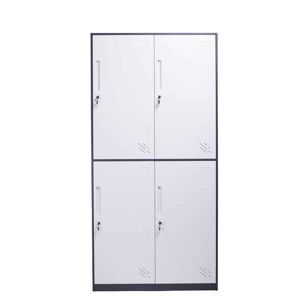 modern storage cabinet steel 4 door wardrobe