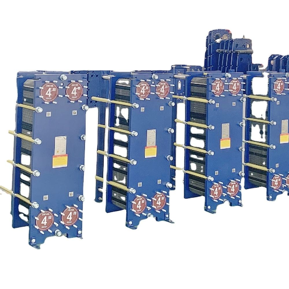 Professional factory cross flow to cooling in marine industry plate heat exchanger details