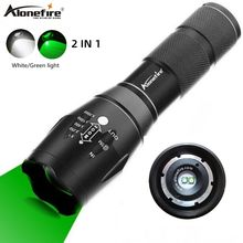 Alonefire G700-WG White+Green light LED Flashlight Tactical Waterproof Hunting Fishing Light Scout Ultra Bright torch AAA 18650