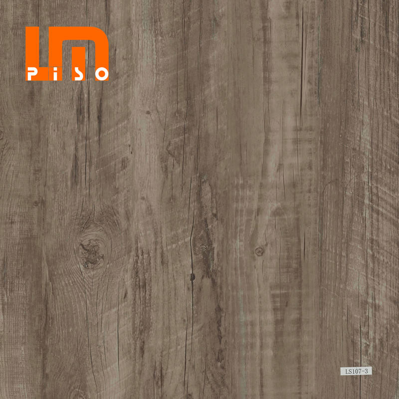 Grey Series Effect Wood Look Color Films Durable Click Rigid Vinyl Laminate SPC Flooring Tiles