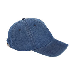 Unisex Washed Denim Cap 100% Cotton Low Profile Unconstructed Baseball Cap With Adjustable Metal Buckle